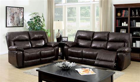 stallion top grain leather match reclining living room set