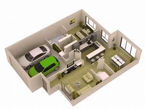 Marvelous 3d Home Plans #7 3d Floor Plan Design ...
