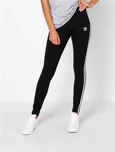 Adidas 3 Stripe Leggings in Black