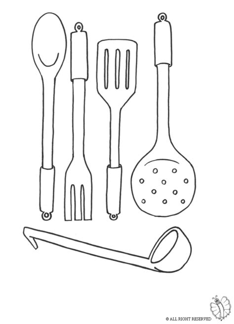 Coloring Utensil kitchen utensils coloring pages sketch coloring page
