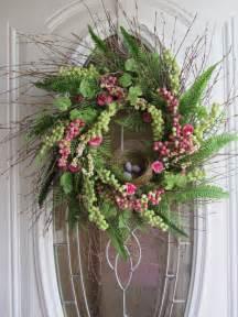 items similar to spring wreath easter wreath front door wreath bird nest on etsy