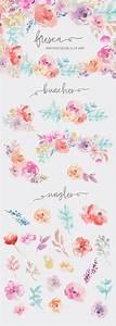 Flower Invitations Templates Free Fresca Watercolor Flower Clip Art Illustrations