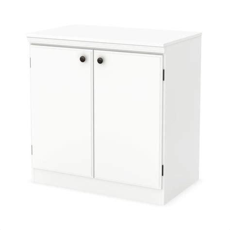 south shore morgan 2 door storage cabinet in pure white