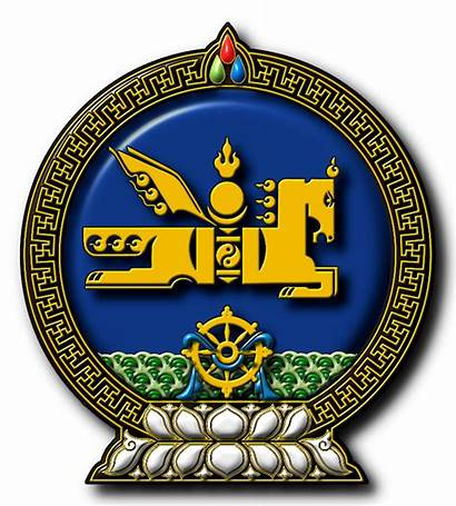 Mongolia Emblem Symbol State Heraldry Asian Asia