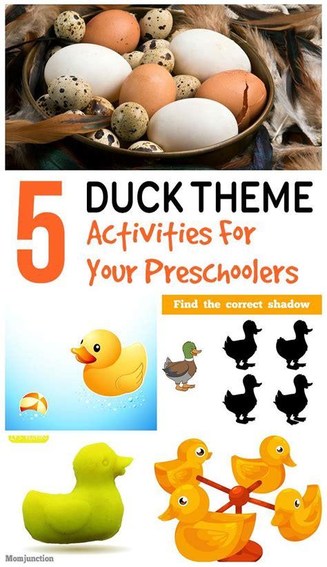 fun duck activities  preschoolers activities ducks