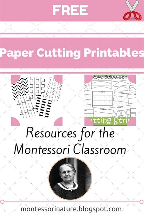 free paper cutting printables resources for the montessori classroom montessori nature