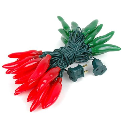 and green chili pepper light strings with 35 lighted