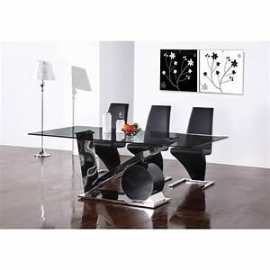 table salle a manger design verre modern aatl