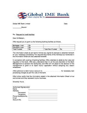 car loan request letter  bank format