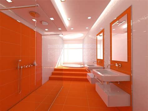 Minimalistische Einrichtung Des Kinderzimmerskleines Kinderzimmer In Orange by Die Orange Farbe Sickert In Das Badezimmer Zaypa