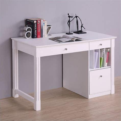 white desk with white desk student storage desk w keyboard tray