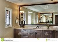 large bathroom mirrors Bathroom With Large Mirror Royalty Free Stock Image ...
