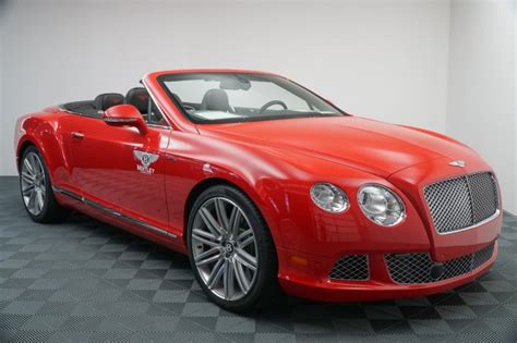 bentley  car continental gt speed convertible red