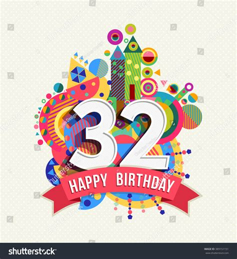 happy birthday    year stock vector