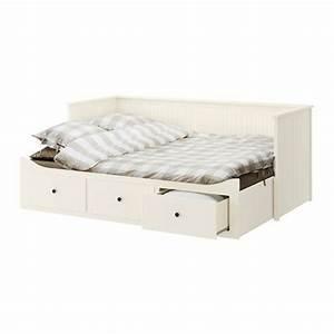 427eur hemnes structure divan avec 3 tiroirs blanc moshult With tapis chambre bébé avec canape divan lit