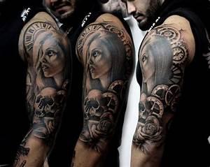 Tattoos Frauen Arm : tattoo frau uhr skull biomechanik tattoos pinterest tattoos tattoos for women and tattoo ~ Frokenaadalensverden.com Haus und Dekorationen