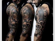 Comic Tattoo Ganzer Arm Tattoo Art