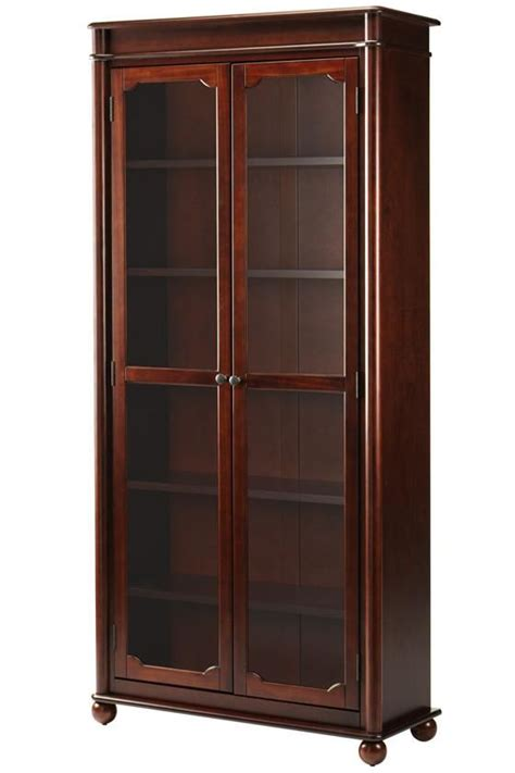 Bookshelf With Doors by Essex Bookcase With Glass Doors Living Room Glass