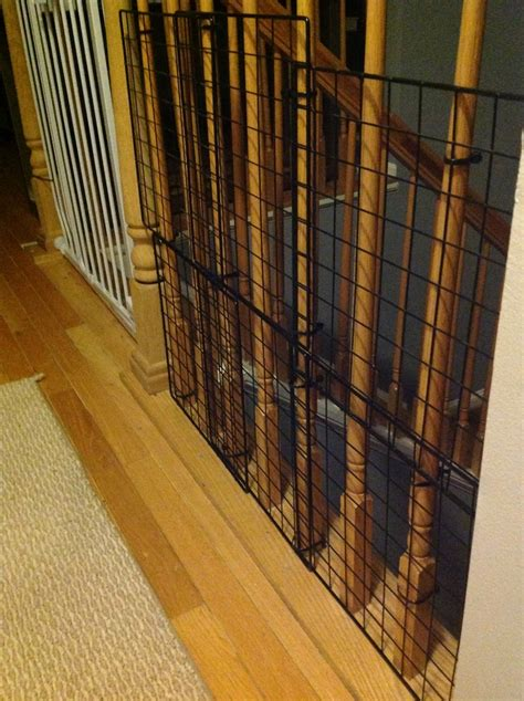 banister guard baby proofing temporary fix banister guard using