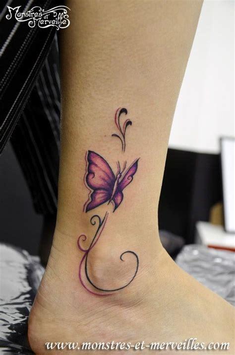 tatouage papillon pied tattoo tatouage pied femme