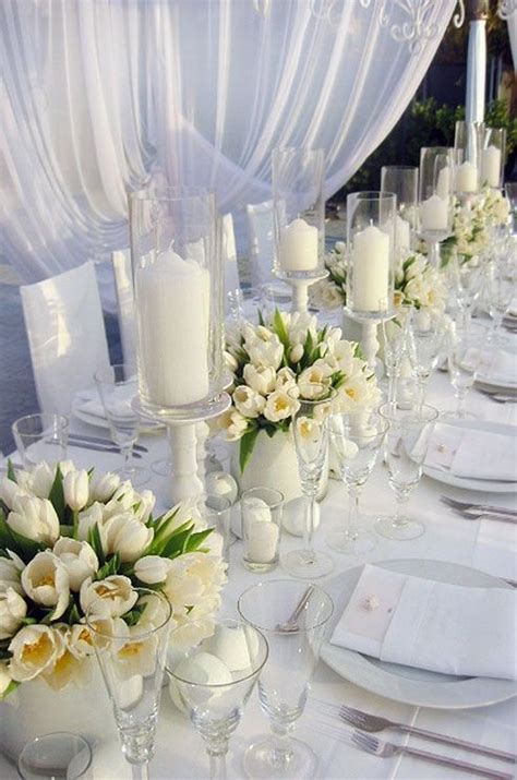 white tulip wedding ideas  spring weddings