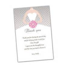 wedding shower thank you cards bridal shower thank you cards ebay