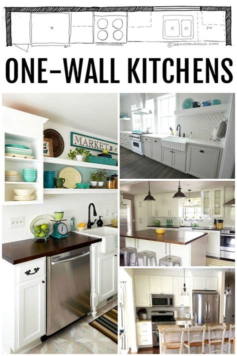 one wall kitchen cabinet layout remodelaholic popular kitchen layouts and how to use them