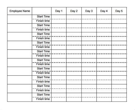 weekly timesheet template templates  printable