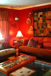 ethnic indian living room interiors boho chic design pinterest