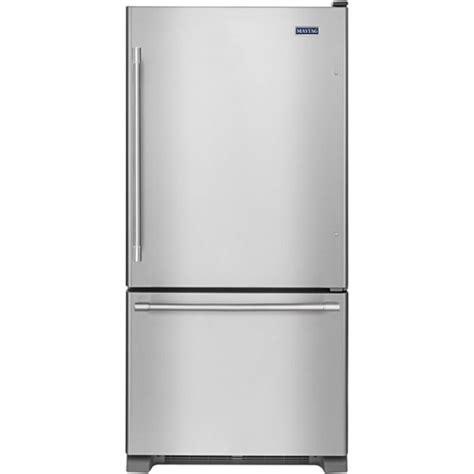 maytag  cu ft bottom freezer refrigerator stainless steel mbffez  buy