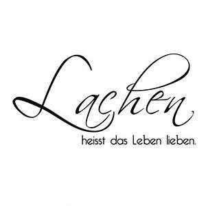 Lieben Leben Lachen : wandtattoo lachen heisst das leben lieben wandtattoo worte zitate ~ Orissabook.com Haus und Dekorationen