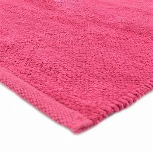 petit tapis framboise pas cher 100 coton 55x85cm With tapis framboise salon