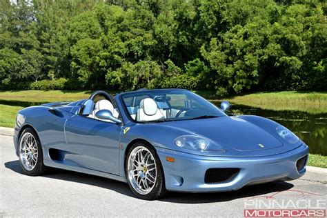 Available today, 2001 ferrari f1 spider with carbon fiber racing seats, capristo exhaust and only 20,056 miles. 2001 Ferrari 360 SPIDER/SPIDER F1 | Pinnacle Motorcars