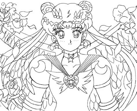 Eternal Sailor Moon Lineart By Aleena On Deviantart