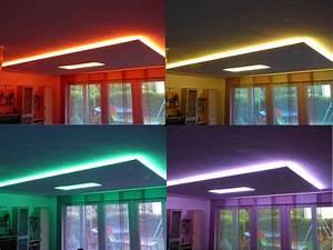Indirekte Beleuchtung Abgehängte Decke : indirekte rgb led strip beleuchtung f r eine abgeh ngte decke retail design in 2018 ~ Indierocktalk.com Haus und Dekorationen