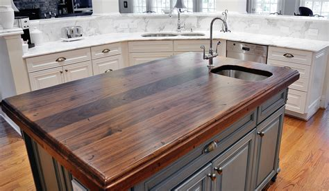 countertop for kitchen island distressed black walnut heritage wood by artisan