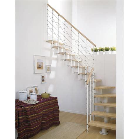 escalier modulaire long structure m 233 tal marche bois