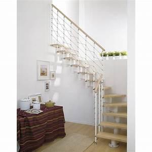 escalier modulaire long structure metal marche bois With leroy merlin piscine bois 3 escalier modulaire strong structure metal marche bois