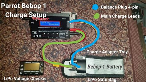 high pro glow parrot bebop  battery balance port