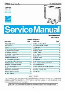 Hp 2009m 2009f Lcd Monitor Service Manual Service Manual