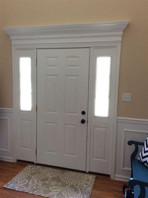 added trim molding   front door