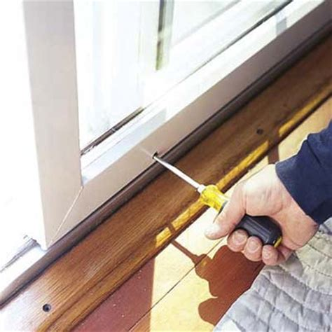 lower the door how to fix a sliding door this house