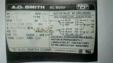 Ao Smith Ac Motor Wiring by Ao Smith Electric Motor Wiring Diagram Gallery