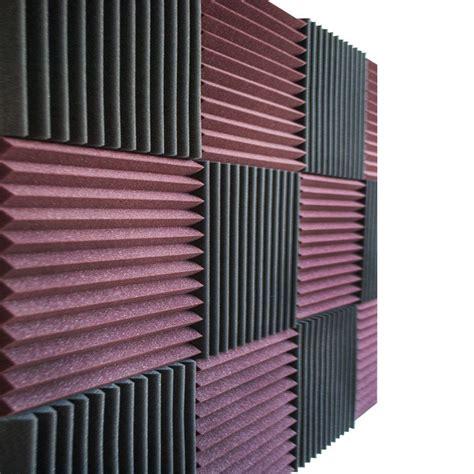 12 Pcs Acoustic Wall Panels Burgundy Charcoal Foam Wedges