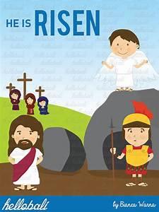 Jesus Risen Clipart. Sunday School Clip Art Cross