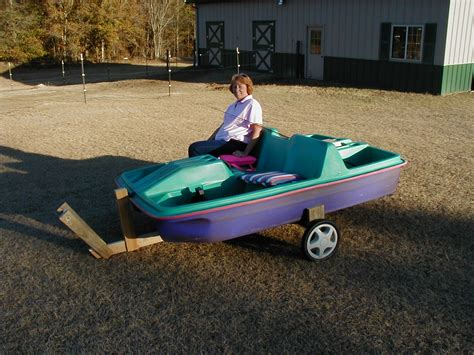 Paddle Boat Trailer modeling the new paddle boat trailer engineered by