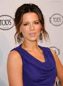 Kate Beckinsale with her hair pulled into a simple updo ...  Kate