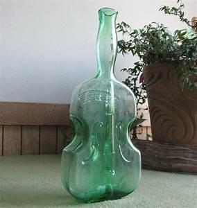Old, Bottle, Green, Violin, Vintage, Liquor, Bottles, Clevenger, Bros, Glass, Co