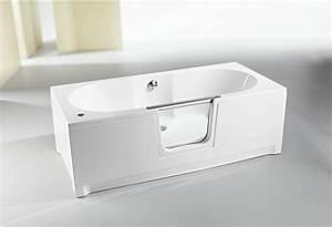 baignoire a porte caracteristiques et avantages principaux With porte d entrée pvc avec amenagement salle de bain pour personnes agees