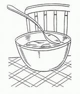 Coloring Soup Bowl Chicken Warms Template Sketch sketch template